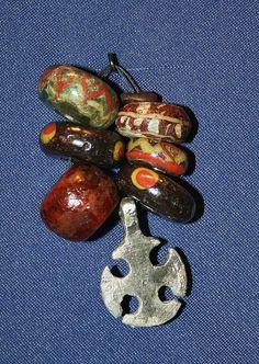 Beads and cross Kaupang Larvik Vestfold Norway 900 CE