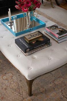 Pretty Ottoman as Coffee Table - Terracotta Properties