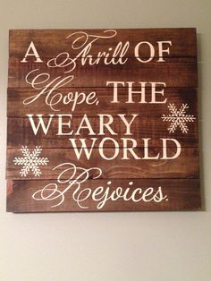 Pallet Wood Quote Christmas Carol Lyrics by dashingdesignsfinds, $60.00