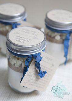 DIY Mason Jar Cookie Mix Gift Wedding Favor