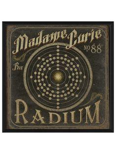 Cool!  Madame Curie no88 Radium by Artwork Enclosed on Gilt Home