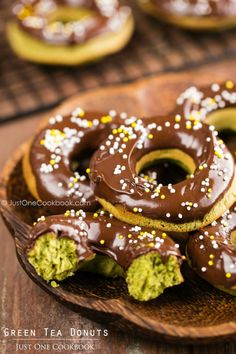 Green Tea Donuts | Easy Japanese Recipes at JustOneCookbook.com