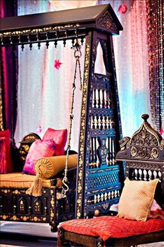 Morocco decor, interior, porch swings, swing bed, dream, moroccan style, hous, indian style, bohemian