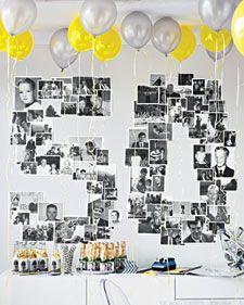 Good idea for 30, 40, 50, etc Birthday Parties!
