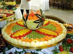 Beautiful fruit tray idea