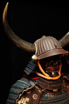 Japanese samurai helmet and armor