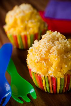 butternut squash/mac and cheese cupcakes.  Perfect for picky kids!