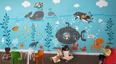 Wall Sticker Kids Decal Gigantic Underwater world $285