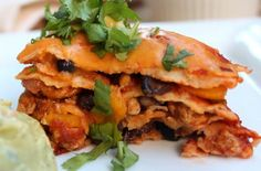 Mexican Lasagna with Chicken & Black Bean