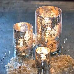 DIY mercury glass (paint available at lowes)