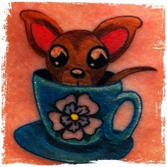 Pin Chihuahua Tattoos Dog Free Download Tattoo 37899 Small On