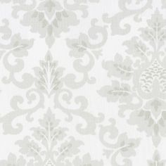 French Gray Damask Fabric by the Yard   Carousel Designs.  Soft and understated this French Gray Damask is stunning. The soft hues of gray on a pale antique white background make this the perfect neutral print for your decorating. It is so versatile and compliments a large array of accent colors.