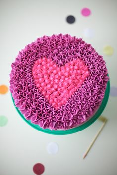 Purple Is The New Pink: Pink Heart Cake! heart cake, coco cake, cake land