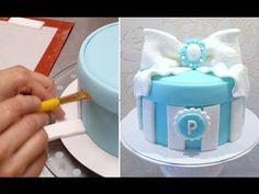 GIFT BOX CAKE - BIRTHDAY CAKE IDEAS.Tutorial by Cakes StepbyStep