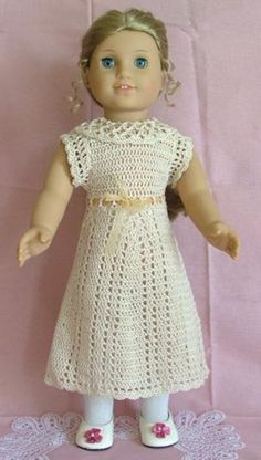 American Girl Doll Lace Summer Dress pattern by Elaine Phillips