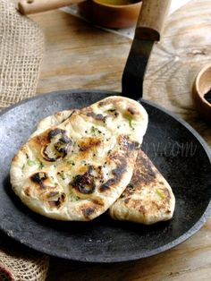 Naan Bread - We love Indian food in our house, but I've never tried making naan to serve with it.
