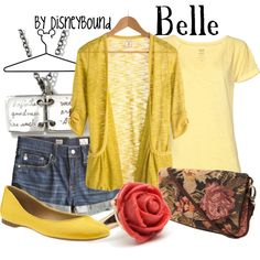 Belle, created by lalakay on Polyvore #disney