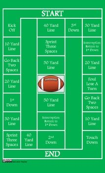 Football Math Game Board By Innovative Teacher