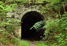 Abandoned Railroad Tunnel...Tunnel #19 which sits abandoned outside of Cairo West Virginia. The old tunnel was part of a 72 mile track built by the B & O Railroad in the 1850s. Now part of the North Bend Rail Trail, this and two other abandoned tunnels, along with 10 other accessable tunnels, make up a magnificent trail from Parkersburg to Clarksburg that has no more than a 3% grade.