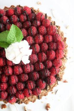 Raspberry Chocolate Pie
