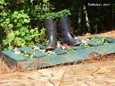 Upcycled garden wood pallet - Debbiedoo's