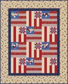 flag quilt, free pattern, quilt inspir, star, quilt patriot, patriotic quilts, patriot quilt