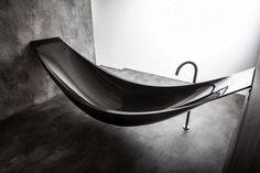 Black Hanging Vessel Tub