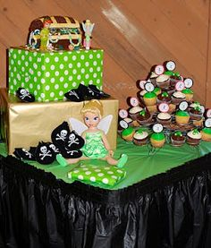 Tinkerbell Party cupcake display