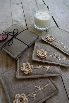 love these coasters #crochet #crafts #flowers #sewing