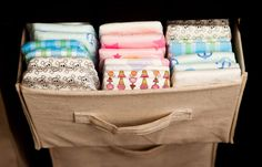Diaper/burp cloth organization - Get a free trial from The Honest Company