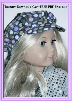 American Girl Doll Trendy Newsboy Cap - FREE PDF Pattern