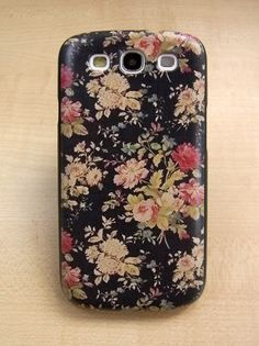 Samsung galaxy s3 case Vintage style flowers Hard samsung galaxy s3 Cover ($11.99) - Svpply