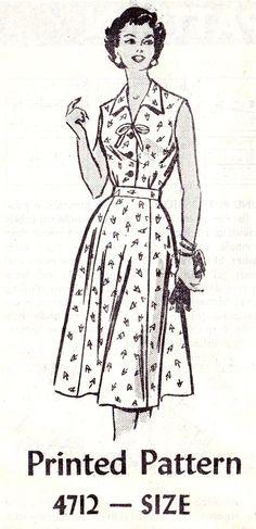 1950s Plus Size TwoPiece Dress