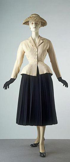 """Dior """"New Look"""" suit - 1948"""