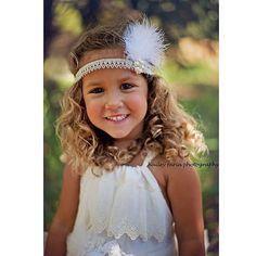 1920s Great Gatsby Silver Headband - KIds Fashion - Toddler Headband 1920s