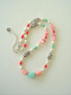 Boho Chic Necklace Bohemian Jewelry Beach Jewelry by BohoStyleMe