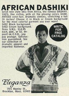 1971 Men's Fashion Ad, African Dashiki by Eleganza | Flickr - Photo Sharing!