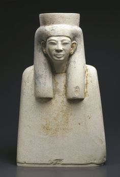 Bust with a Long Wig:Geographical Locations:  Possible place made: Deir el Medineh, Egypt  Place made: Egypt  Dates: ca. 1336-1279 B.C.E.  Dynasty: late XVIII Dynasty-early XIX Dynasty  Period: New Kingdom