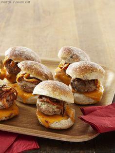 Mini Pork Cheeseburgers Recipe : Food Network - FoodNetwork.com