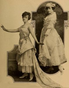 Edna Mayo modeling Lucille dresses