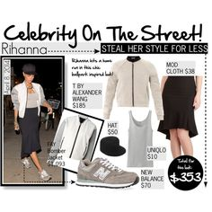 """Celebrity On The Street : Rihanna"" by reddotdaily on Polyvore"