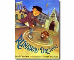 Runaway Dreidel! by Leslea Newman, Kyrsten Brooker (Illustrator). Hanukkah books for kids.  http://www.apples4theteacher.com/holidays/hanukkah/kids-books/runaway-dreidel.html