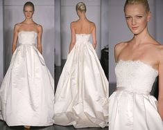 Amsale and wedding gowns with pockets :)