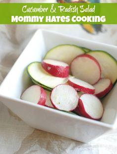 Recipe - Cucumber & Radish Salad I Mommy Hates Cooking #GardenFresh