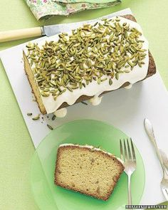 Pistachio Pound Cake with Drippy Icing Recipe