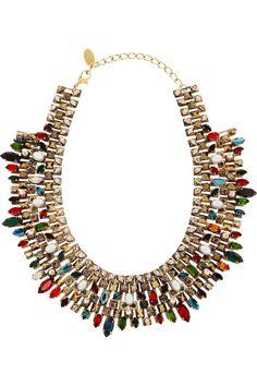 Erickson Beamon| gold-plated Swarovski crystal necklace
