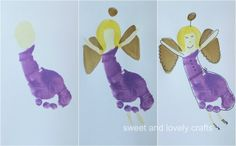 sweet and lovely crafts: footprint angels