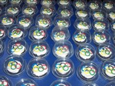 Olympic themed cup cakes