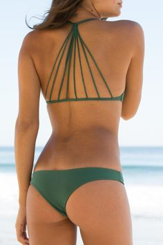 Mikoh Swimwear 2014 - Lahaina Bikini Bottom Seaweed - $78... I don't want to show that much of my ass, but I do love that top.