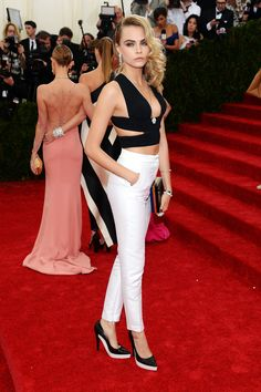 Cara Delevingne looking stunningly sexy in Stella McCartney at the Met Gala 2014.